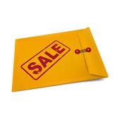 Sale on manila envelope  — Stock Vector