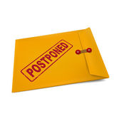 Postponed on manila envelope  — Stock Vector