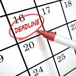 Deadline word circle marked on a calendar — Stock Vector #51558795