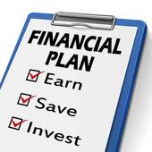 Financial plan clipboard  — Vettoriale Stock
