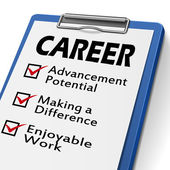 Career clipboard — Stock Vector