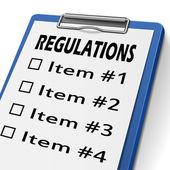 Presse-papiers de règlements — Vecteur