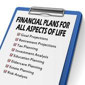 Checklist for financial plans — Stock Vector