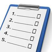 Blank checklist clipboard — Stock Vector