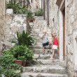 Narrow stairway in the old city, Dubrovnik — Stock Photo #11900720