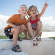 Little boy and girl — Stock Photo #11900781
