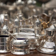 Stock Photo: Vintage sterling silver Coffee Teset