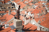 View of red roofs — Stock Photo