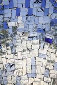 Silver mosaic background. — Stock Photo