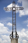 Mettalic Cross and sky — Stock Photo