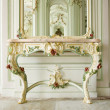 Commode  with floral ornaments — Stock Photo