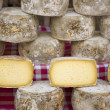 Group of varieties of French cheeses and aged — Stock Photo