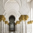 Beautiful white muslim church interio — Stock Photo #36372997