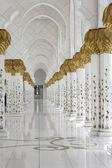 Beautiful white muslim church interio — Stock Photo