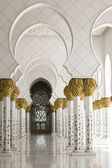 Beautiful white muslim church interio — Stock Photo
