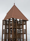 Wooden view point tower — Zdjęcie stockowe