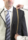 Semi-ready, elegant tailor made suit — Stock Photo