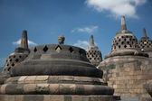 Borobodur stupas near to Jogyakarta, Java island, Indonesia — Stock Photo