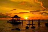 Sunset over the beach, island Koh Kood, Thailand. — Stock Photo