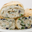 Cottage cheese  wrap — ストック写真