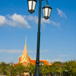 Lamppost in the park in Cambodia — Stock Photo