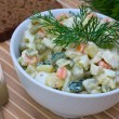 Russian traditional salad olivier — Stock Photo #12214407