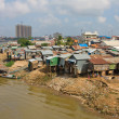Stock Photo: Poor district in Phnom Penh, Cambodia