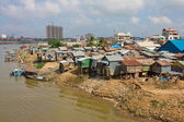 Poor district in Phnom Penh, Cambodia — Stock Photo