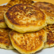Sweet cheese pancakes on a plate — Foto de Stock