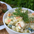 Russian traditional salad olivier — Stock Photo #12485552