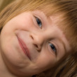Portrait of the girl child — Stock Photo