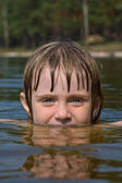 Children in water closeup — Foto Stock