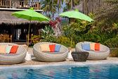 Beautiful swimming pool, Thailand . — Stock Photo