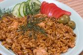 Pollo al curry con arroz — Foto de Stock