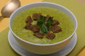 Spinach cream soup — Stock Photo