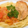 Spaghetti with chicken — Stock Photo #13153052