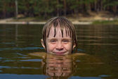 Children in water closeup — Foto de Stock
