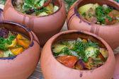 мясо, запеченное с овощами — Стоковое фото