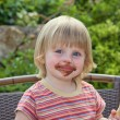 Girl eating ice cream — Stock Photo #13365888