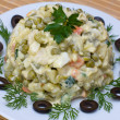Russian traditional salad olivier — Stock Photo #13366128