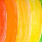 Watercolor rainbow — Stock Photo