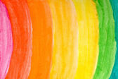 Watercolor rainbow — Stock Photo