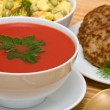 Stock Photo: Tomato cream soup