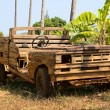 Stock Photo: Old wooden car