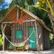Tropical house on the beach — Stock Photo