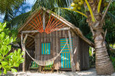 Tropical house on the beach — Stok fotoğraf