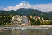 Yoga complex in Rishikesh, Uttaranchal, India — Stock Photo