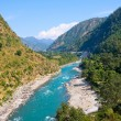 Ganges river in Himalayas mountains — Stock Photo