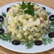Russian traditional salad olivier — Stock Photo #14137205