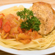 Spaghetti with chicken — Stock Photo #14138784